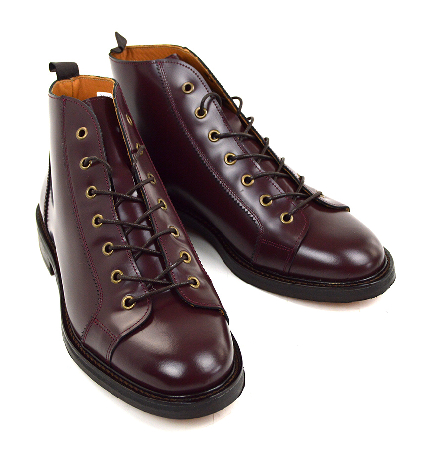 Oxblood Cherry Monkey Boots Version 3 Leather Sole Mod