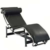 Le Corbusier Style LC4 Chaise Lounge Chair Leather