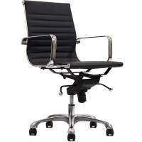 Classic Ribbed Mid Back Office Chair