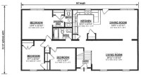 B162132-1 by Hallmark Homes Bi-Level Floorplan