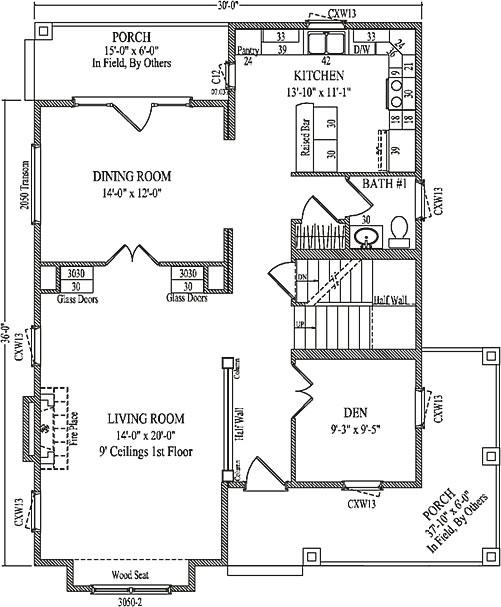 Kelsey By Wardcraft Homes Two Story Floorplan