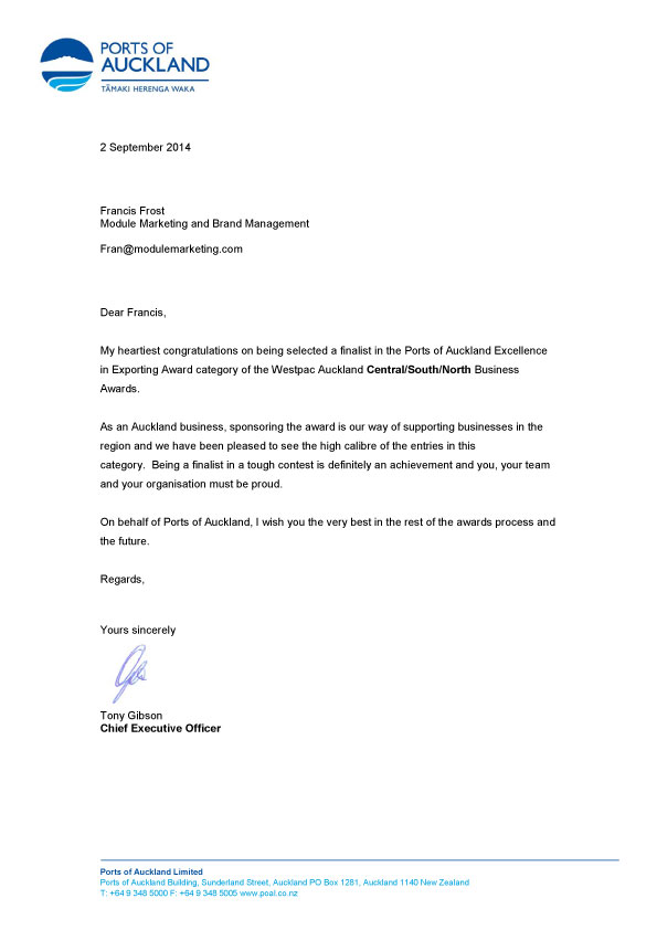 Module-finalist-letter Module Marketing and Brand Management - inter office communication letter