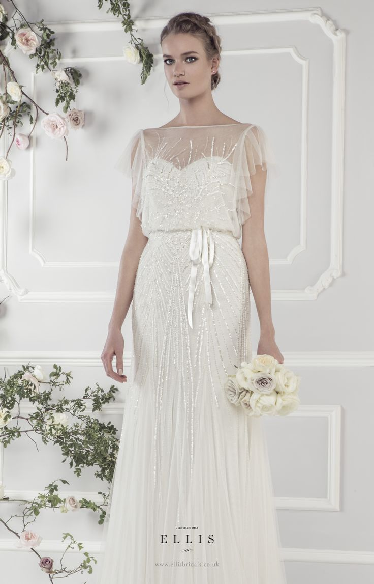 wedding dress 20s style wedding dress Ellis Bridals Wedding Dresses MODwedding