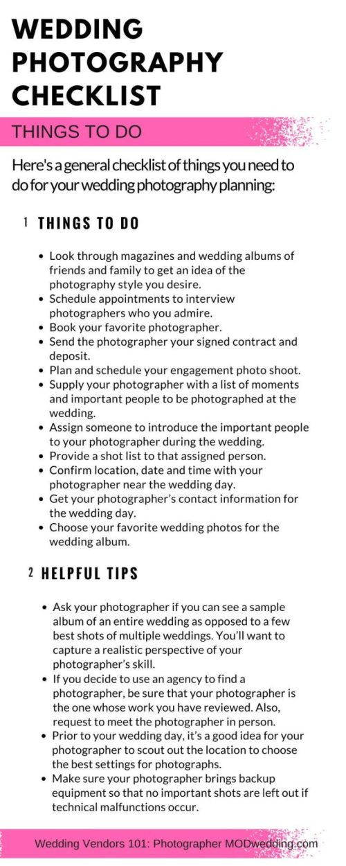 Rummy Wedding Photography Things To Do Modwedding Basic Wedding Photography Checklist Beach Wedding Photography Checklist