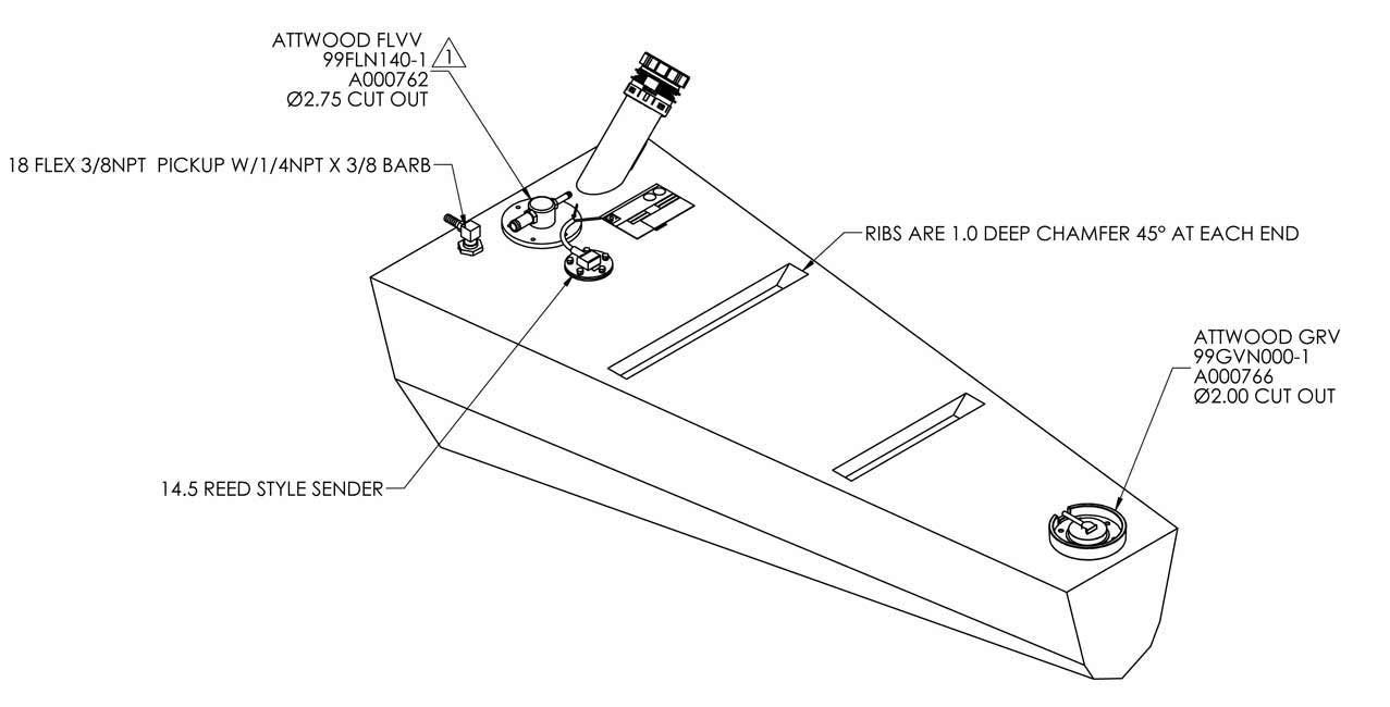 boat fuel tank Schaltplang
