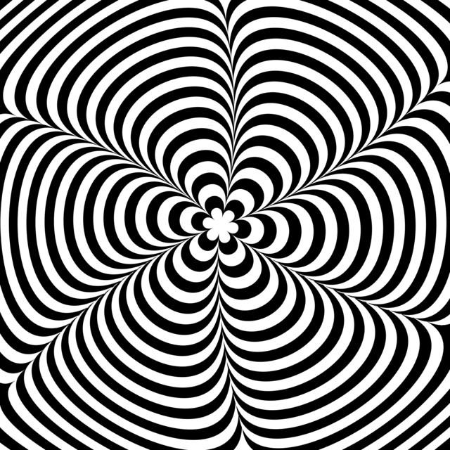 Falling Matrix Wallpaper Moving Black And White Illusion