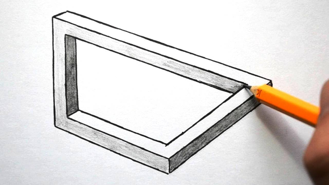 How To Draw Optical Illusions Rectangle Triangle And
