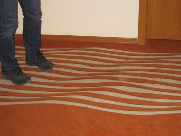 Crazy Carpet Optical Illusion