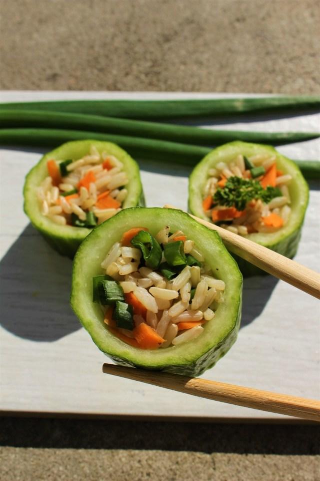 Wegańskie, wiosenne sushi