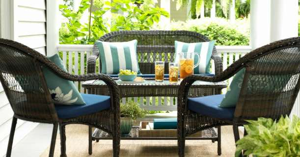 Brown Wicker Patio Loveseat Just 5500 At Lowes