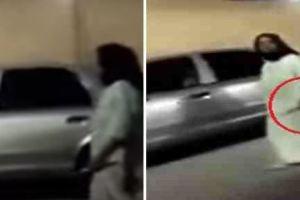 بالفيديو: سيدة بدون عباءة تحمل سكينا بأحد شوارع جدة وتفزع المارة