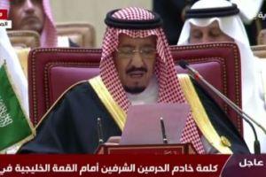 عاجل | خادم الحرمين يلقي كلمة أمام #القمة_الخليجية_37 في المنامة