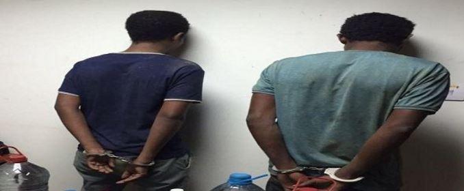 """صورة : القبض علي أخطر مروجي الممنوعات """"منجح"""" بعد وقوعه في كمين شرطة جازان"""