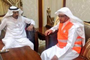 بالصور.. الشيخ صالح المغامسي يتطوع وينضم لفريق الهلال الأحمر بالمدينة