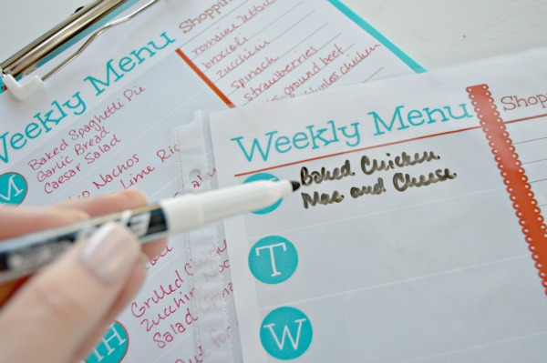 Free Printable Weekly Menu Planner and Grocery Shopping List - Mom 4