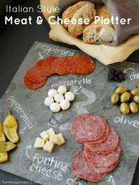 Cheese Platter Ideas and DIY Monogrammed Slate Cheese Board