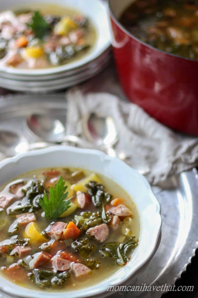 Chicken Sausage and Kale Soup | Paleo