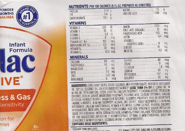 Similac Has Sugar And Corn Syrup In Formula