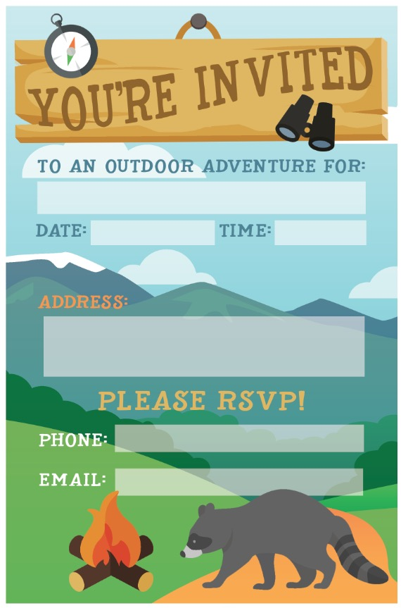 free printable camping invitations - Onwebioinnovate - free printable camping invitations