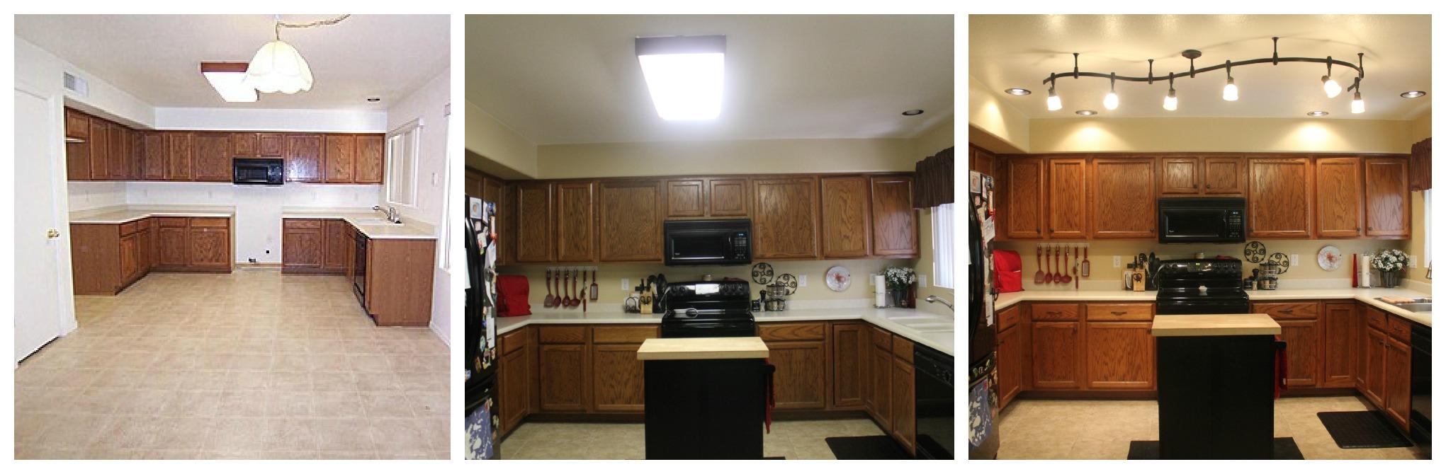 mini kitchen remodel fluorescent kitchen lights So