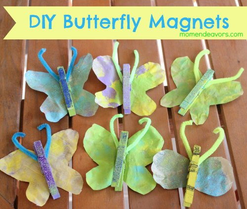 Kids Craft DIY Butterfly Magnets Halloween Crafts Easy Halloween