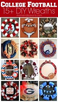 15+ DIY Football Team Spirit Wreaths {College Football ...