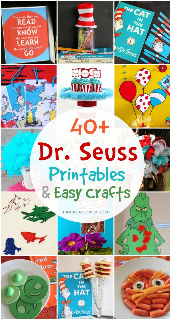 40+ Dr Seuss Printables  Easy Crafts