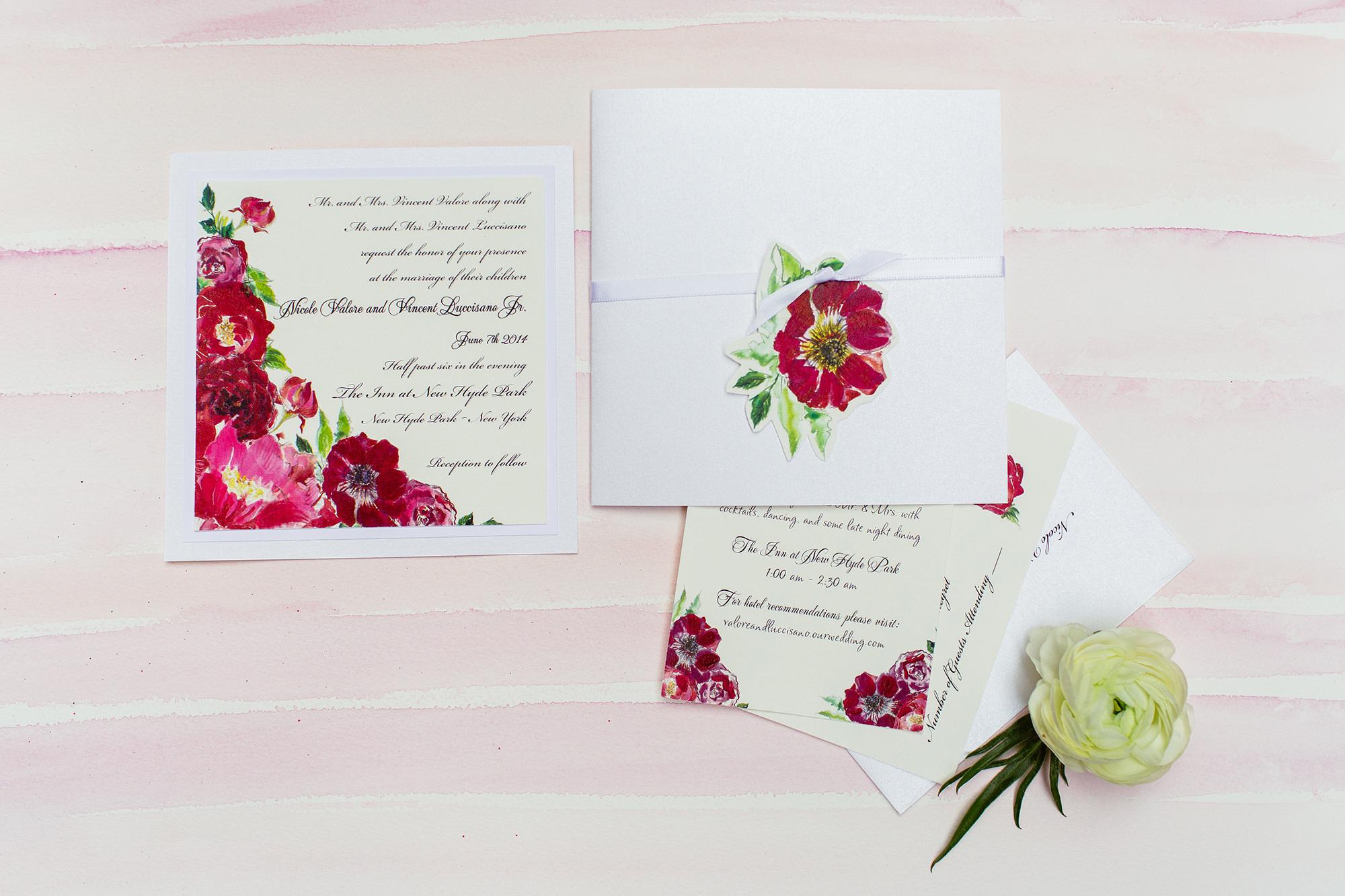 Watercolor Flower Wedding Invitations Momental