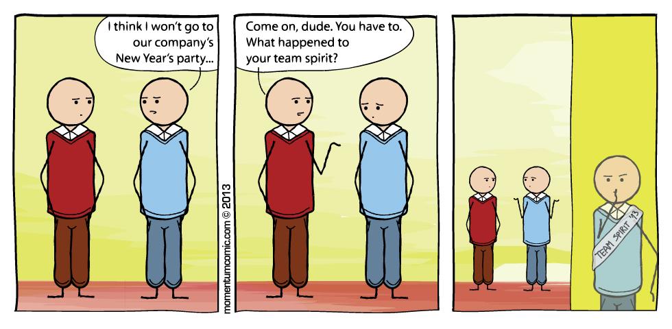 team spirit \u2013 Momentum Comic