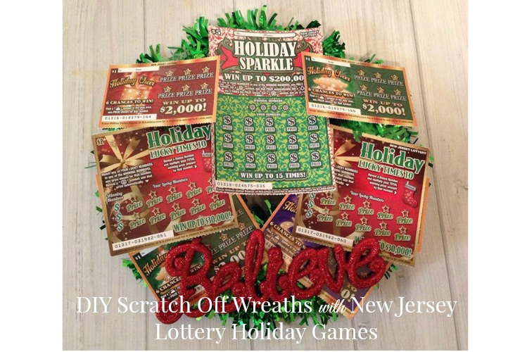 DIY Scratch Off Wreaths with New Jersey Lottery Holiday Games