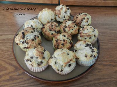 Ricotta Cheese Chocolate Chip Muffins - Momma's Meals