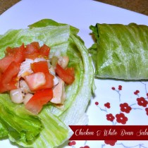 Chicken & White Bean Salad Wraps (6)