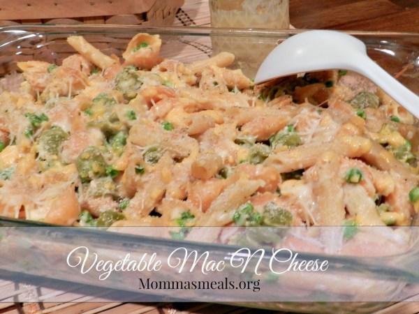 Vegetable Mac N Cheese