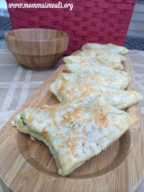 Zucchini & Cheese Trianges