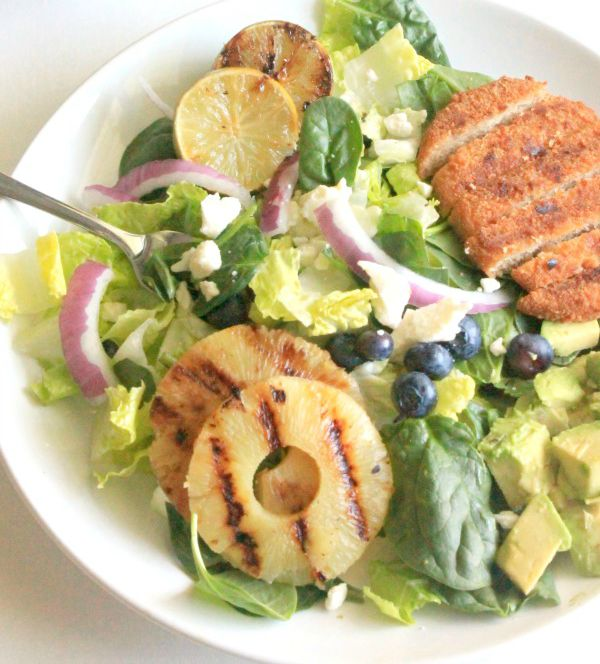 Grilled Chicken Salad with Honey Lime