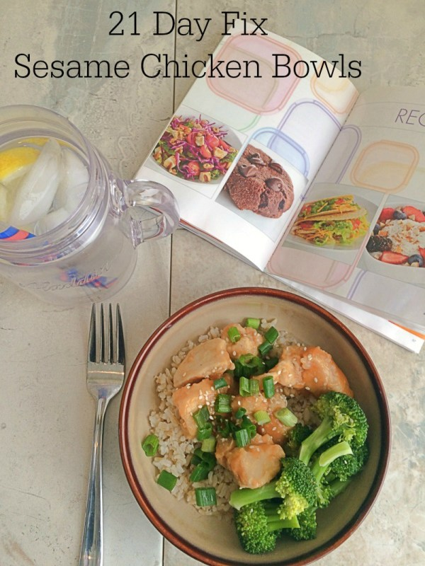 21 Day Fix Baked Sesame Chicken Bowls