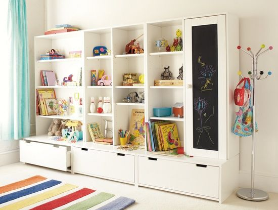Storage On Display Playroom organization, Playrooms and Low shelves