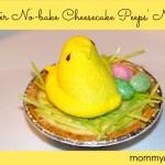 Easter, Easy No-bake Cheesecake, Peeps Nest, Easter Mini Cheesecake