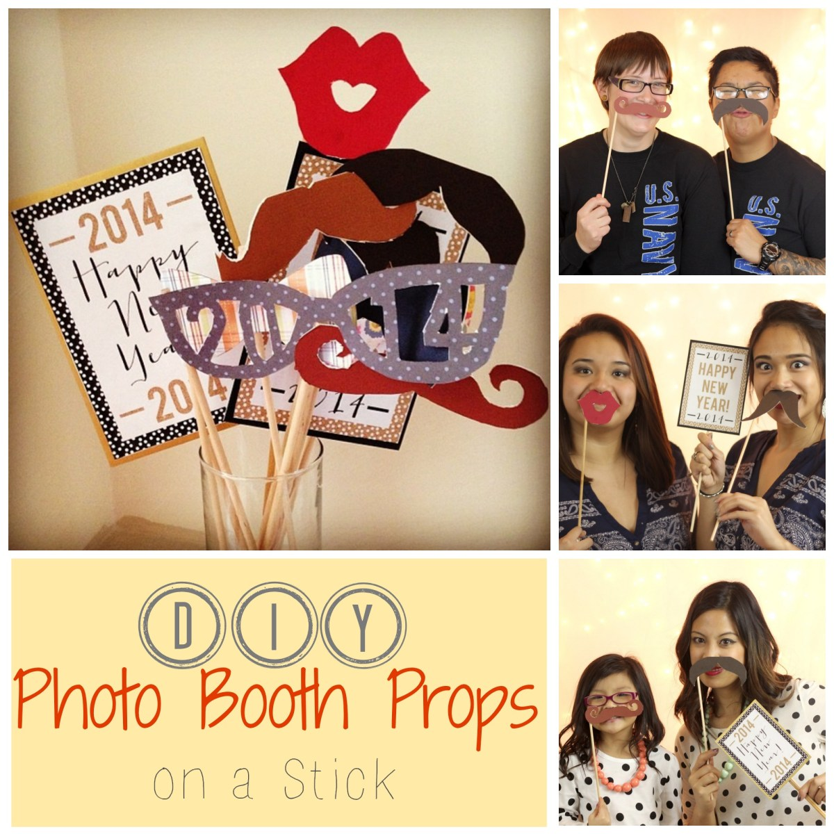 {DIY} Photo Booth Props on a Stick