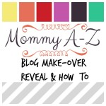 Weekend Blog Make-over Reveal and How-To