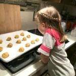 Margaret waiting for pumpkin cookies
