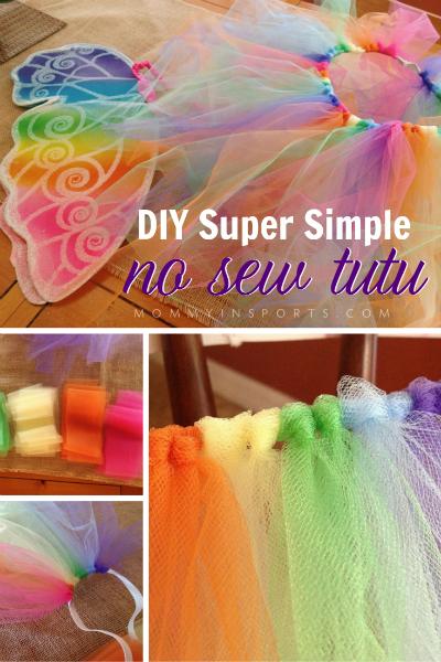 DIY Super Simple No Sew Tutu