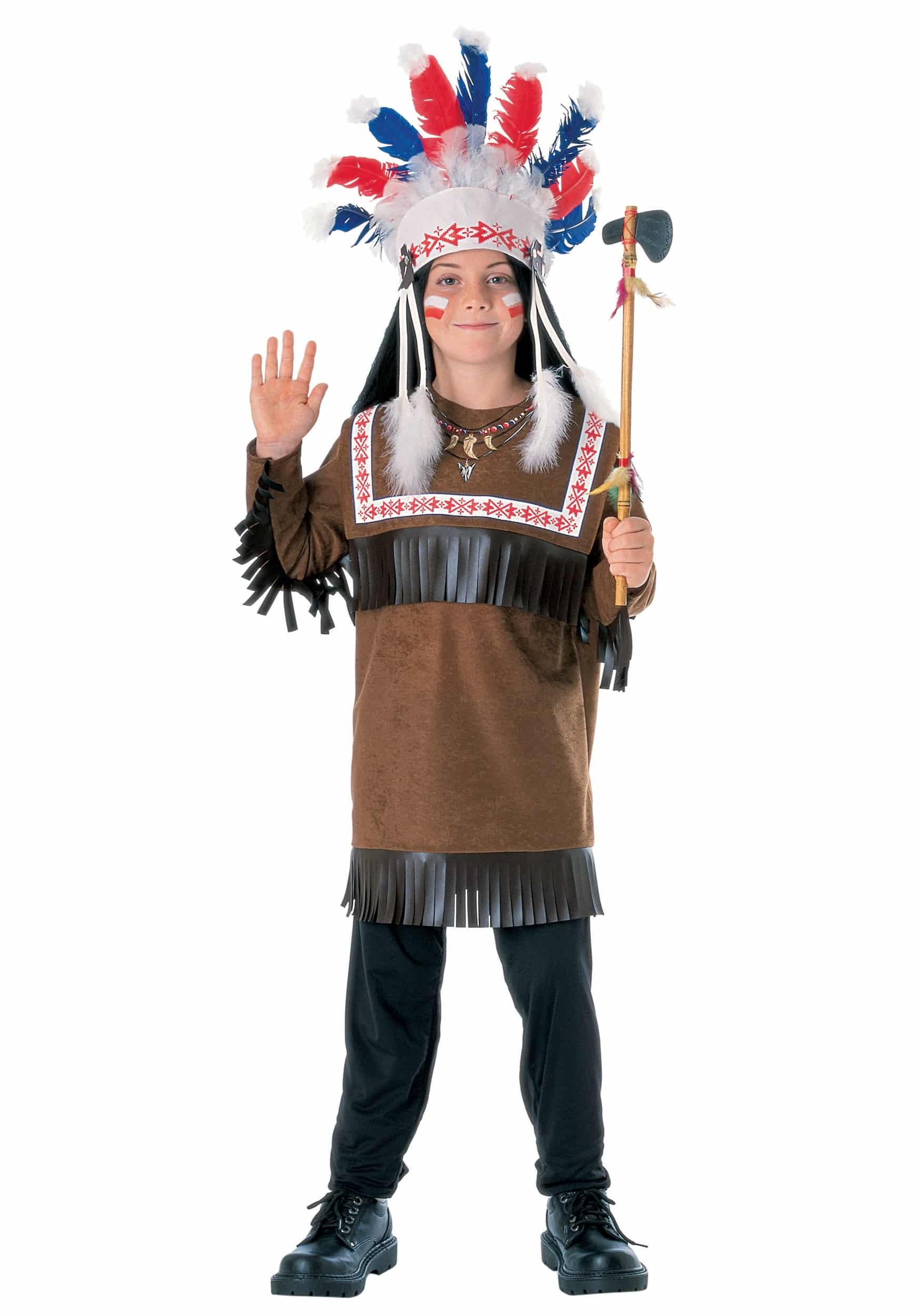 racist halloween costumes for kids native american wedding dress child indian chief costume
