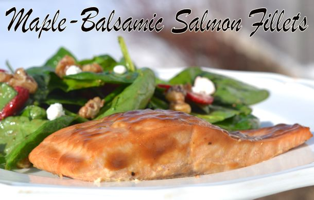 kraft maple-balsamic salmon fillets