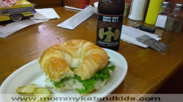 chicken salad and root beer cowboy cafe