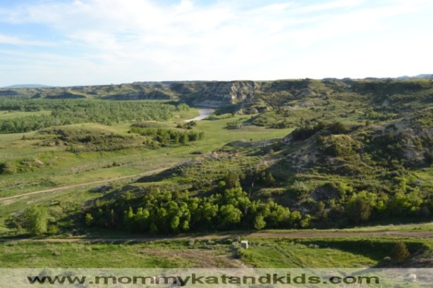 view of north dakota badlands