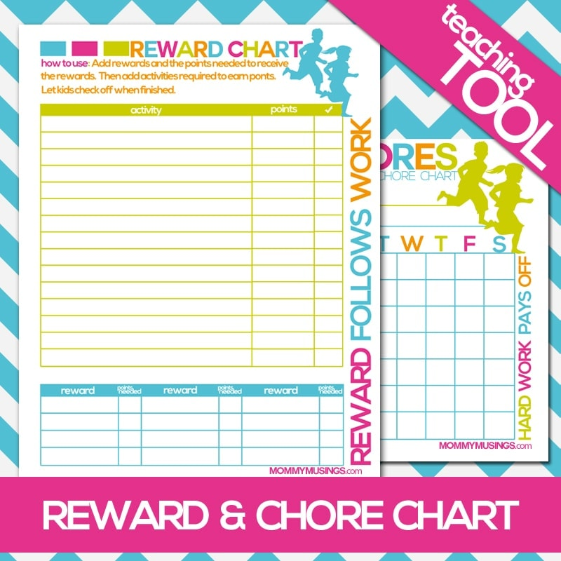 FREE Printable Kids Chore  Rewards Chart - sample chore chart