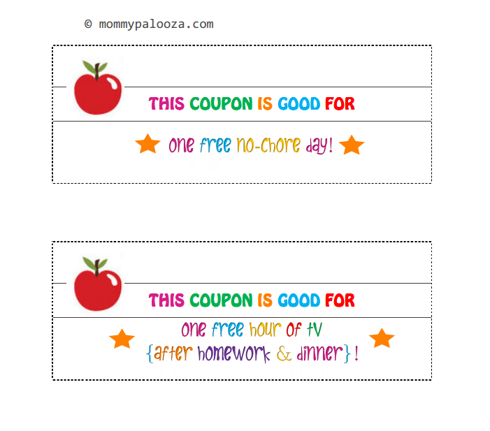 Thank You Coupon Template Last Minute Gift Coupons Family Economics - printable coupon templates free
