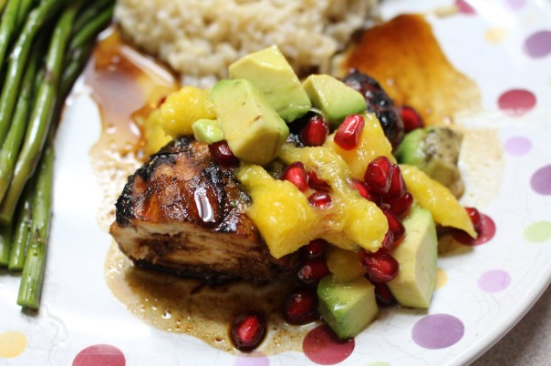 Honey-Balsamic Grilled Chicken with Pomegranate-Mango Salsa | Mommy's ...
