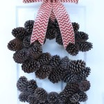DIY Monogram Pinecone Wreath